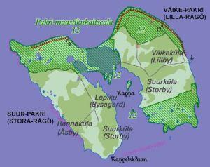 Pakri saarte väike kaart