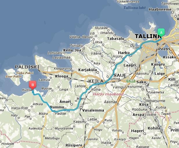 Tallinn-Kurkse teekond